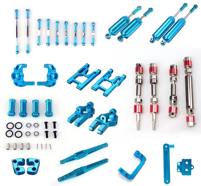 Wltoys 12428 12423 FY01/02/03/04/05 Metal Parts for RC Model Cars Drive Shaft/Shock Absorber/Suspension Arm/Pull Pod