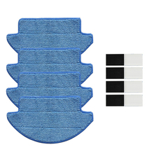 4Pcs Cleaning Mop Cloth + 4Pcs Magic Sticker For Xiaomi Mi Robot Vacuum Cleaner 5 pieces lot microfiber mop cloth washable for home cleaning for cen540 cen540 mi cen546 robot vacuum cleaner