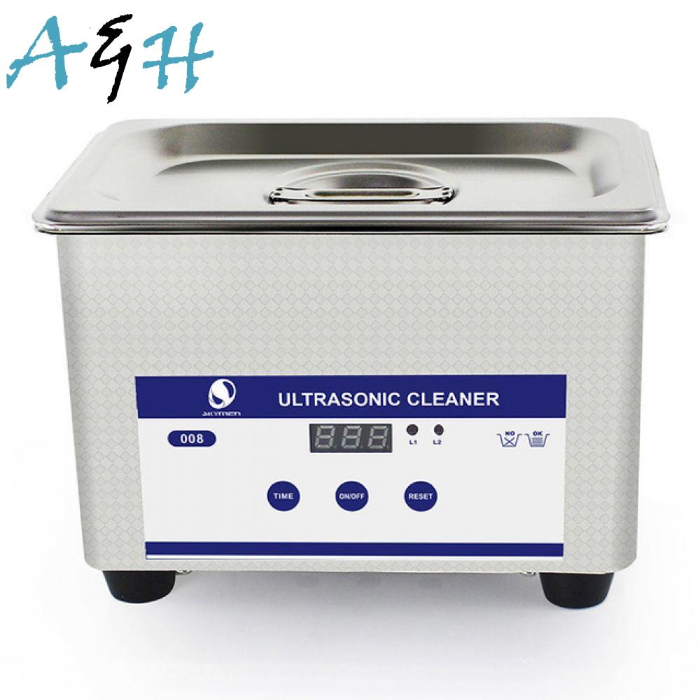 цена на Watches manicure cleaner chain Digital denture Ultrasonic bath 40kHz 0.8L bath 35W Jewelry for