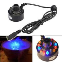 Hot Sale Ultrasonic 12 LED Mist Maker Fogger Atomizer Air Humidifer Water Fountain Pond Mist Maker