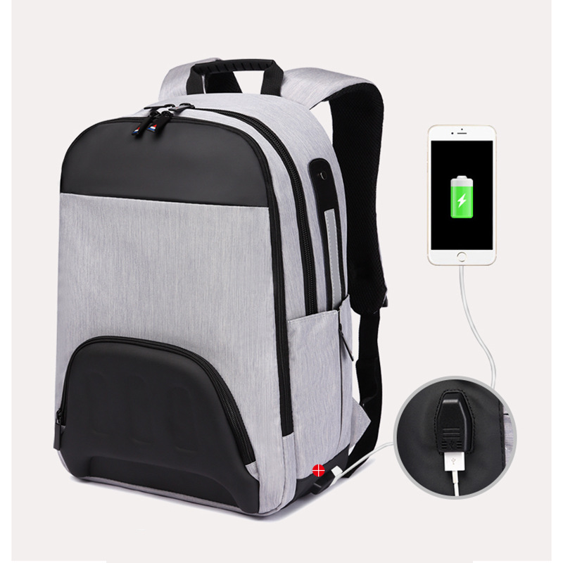 Ozuko Men's Student Bag Korean Version of The Personality Backpacks Casual Waterproof Computer Backpack Laptop Backpack