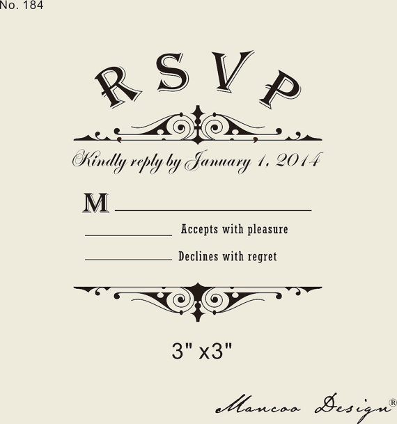 Custom Rsvp Rubber Stamp To Create Response Cards Wedding In Stamps From Office School Supplies On Aliexpress Alibaba Group