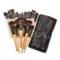 32pcs Makeup Brushes Set Powder Foundation Eyeshadow Make Up Brushes Cosmetics Soft Synthetic Hair With PU