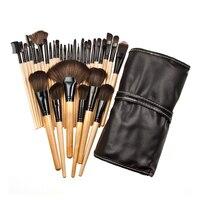 32pcs Makeup Brushes Set Powder Foundation Eyeshadow Make Up Brushes Cosmetics Soft Synthetic Hair With PU