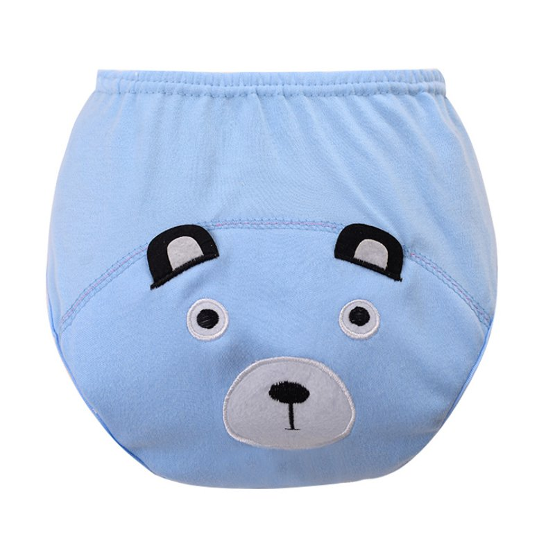 Cotton Infant Baby Diapers Training Study Pants Reusable Nappy Breathable Underwear 0-3Y X16