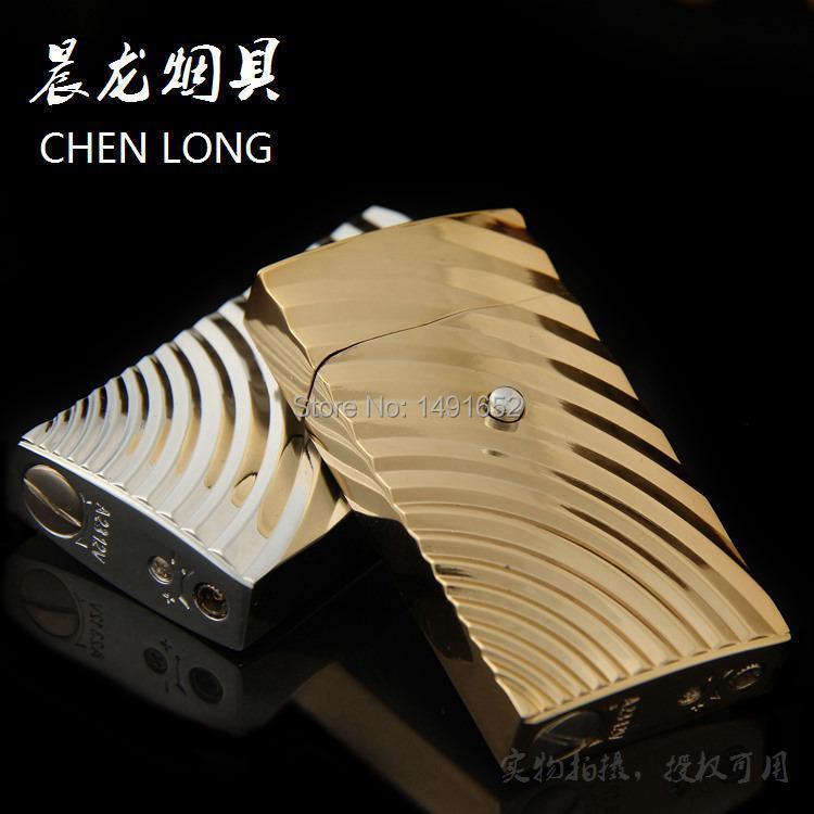 Novelty Gas electronic sense Metal Lighter Funny Stereo corrugation Cigarette Lighter Valentine s Day Gift for