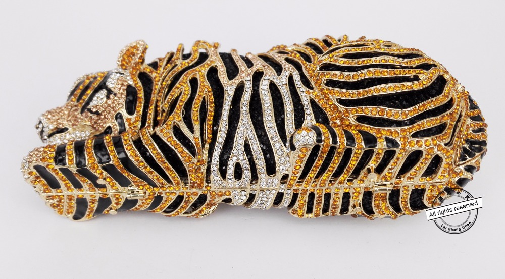 Soirée Diamant Tiger a Sac Luxe Silver Bag Cristal Animal D'or silver Mariage D'embrayage Mariée Partie Élégant Léopard Evening Tigre De Diamante 88166 ab Bourse Gold xBqXpxER