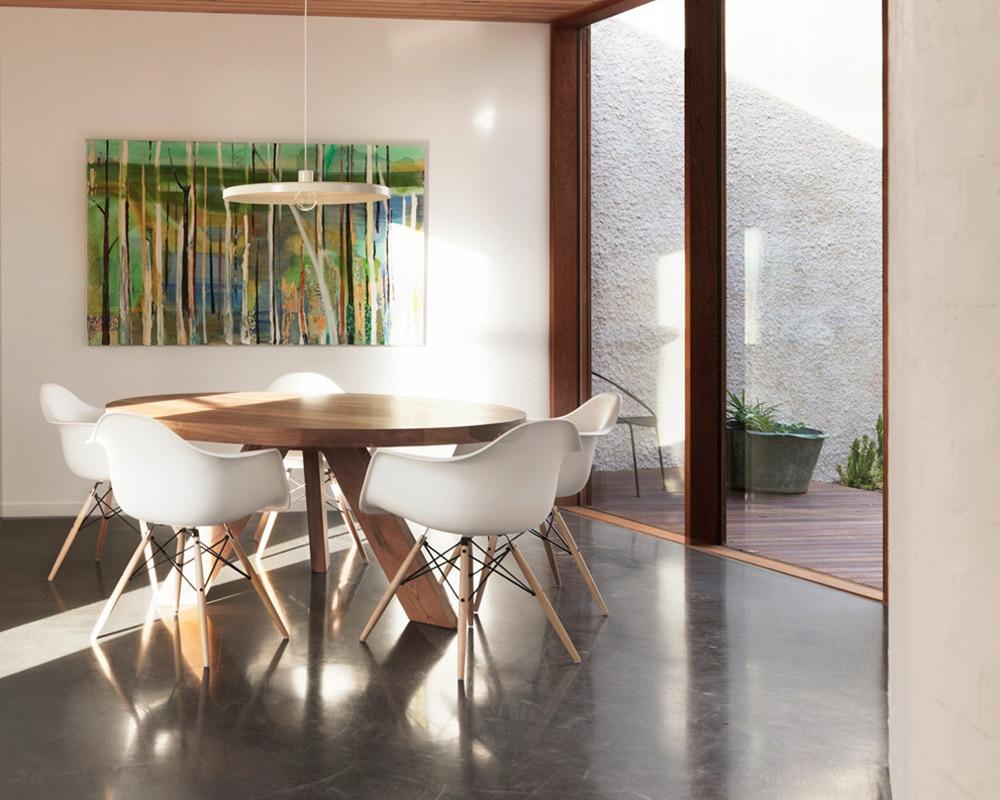 Moderne en aluminium blanc australie créatif disque pendentif