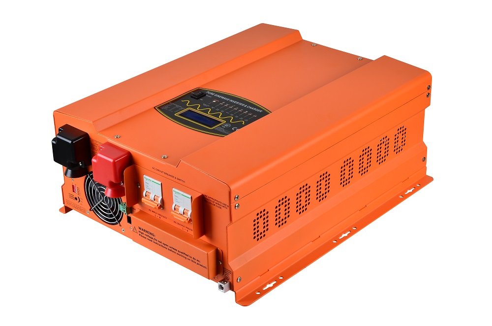 цена на Low frequency off grid pure sine wave inverter charger 8KW 24V/48V split phase 120/240VAC with LCD display