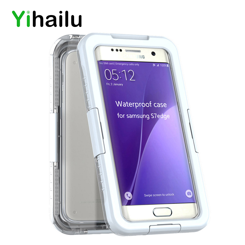 Waterproof Case For Samsung Galaxy S7 S7 Edge IP-68 Heavy Duty Hybrid Swimming Dive Hard Cover Water Dirt Shock Proof Phone Bag