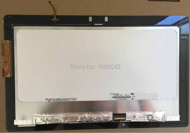 For Asus Transformer Book TX300 TX300CA Touch Screen Glass LCD SCREEN Digitizer Assembly N133HSE-E21 with NO-FRAME  new for asus transformer book tx300ca tx300ca dh71 lcd display touch screen digitizer tablet pc free shipping