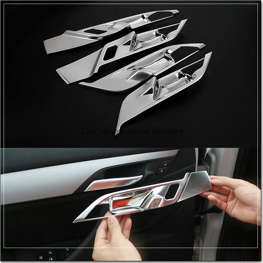 car styling car interior door handle bowl cover trim decoration sticker fit for 2016 bmw x1. Black Bedroom Furniture Sets. Home Design Ideas