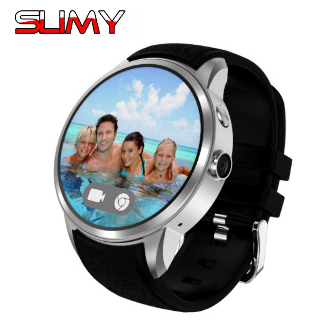 Slimy 2.0M HD Camera Quad Core 16GB Smart Watch 3G SIM Card Android 5.1 WIFI Bluetooth Internet GPS Waterproof Smartwatch X200 smart baby watch q60s детские часы с gps голубые