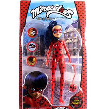 27CM Miraculous Ladybug Girl Doll Musical Light Movable Joints Action Figure Toys Anime flash sound doll model baby girl gift