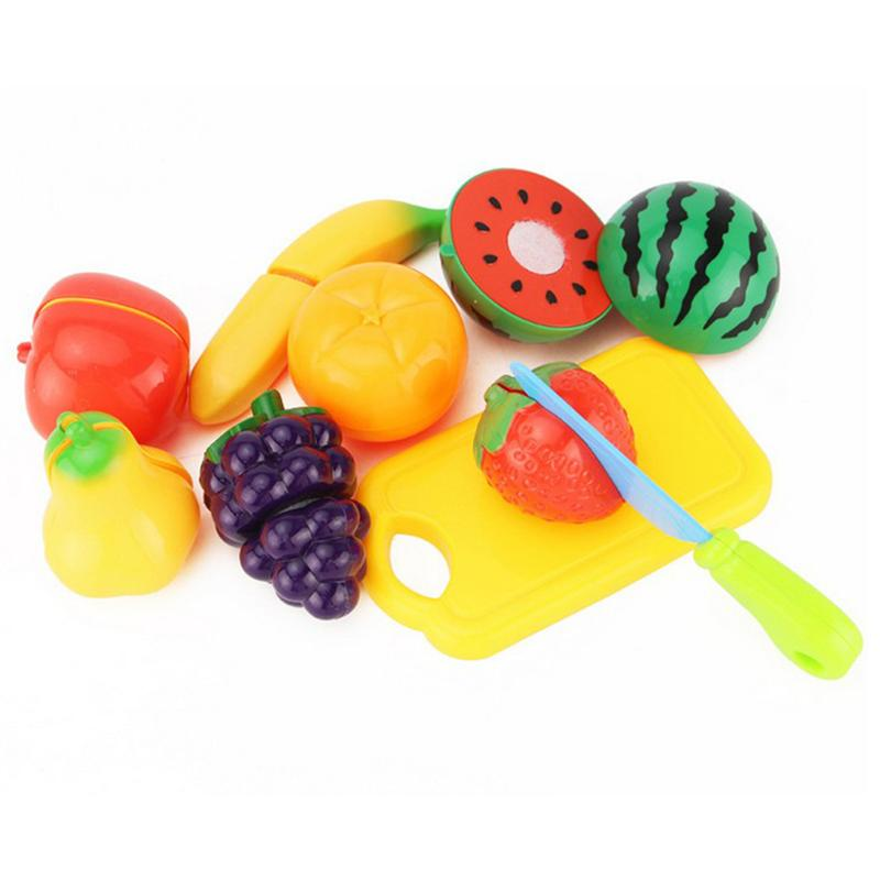 9 Pcs Cutting Fruits Cooking Playset Cute Fun Educational Toys for Kids ...