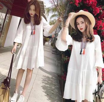 2018 الصيف فستان حمل جديد النسخة الكورية من الزهور الأزياء D-23