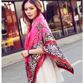 2016 Infinity Spring Summer Luxury Brand for Women Fashionable Red Lace Scarves square Satin Shawls Silk Chiffon Scarf 130*130 L