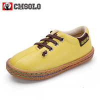 CMSOLO Girls Boys Shoes 2017 New Hot Kids PU Leather Casual Shoes For Girl Loafer Sneakers Skid Soft Bottom Oxford Shoe Children