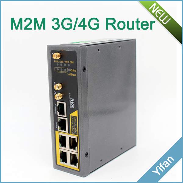 Support I/O port R100 industrial 4G VPN wifi router with Sim card slot Ethernet port pulse i o card cqm1h plb21
