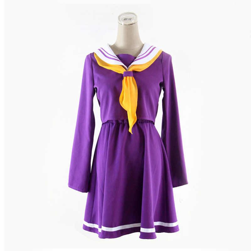 Feminino No Game No Life Shiro Cosplay Menina Emboitement Heroine Uniforme Escolar Marinheiro Terno para Festa de Halloween 89