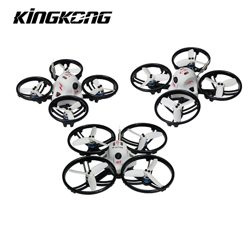 Kingkong ET Series ET100 100mm Micro FPV Racing Drone 800TVL Camera 16CH 25mW/100mW VTX RC Quadcopter BNF VS Kingkong Tiny6 rc aircraft arf kingkong 90gt 90 brushless micro fpv racing quadcopter drone f3 flight controll 800tvl vtx 3a esc tiny whoop