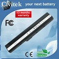 Batería del ordenador portátil para asus a42 a52 k52 k52j k52jb k52jc k52je k52jk K52D K52F K52N K52JR K52F K62 K62F K62J K62JR N82 K52IJ X52