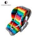 2015 Waterproof carrinho de bebê almofada Stroller Pad Pram Padding Liner assento de carro almofada cadeira de bebé do arco-íris tapete de algodão saco de feijão HK418