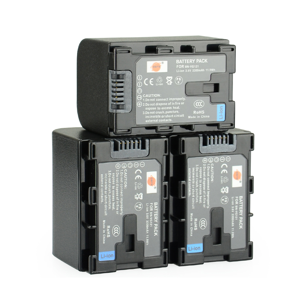 Dste 3pcs Bn Vg121 Rechargeable Battery For Jvc Gz E10 E100 Samsung Q430 Dc Jack Power Port Socket Connector Wire Harness Cable E565 Hm320 Hm550 Hm860 Hm960 Camera