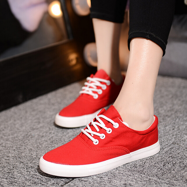 fashion trend Female models to help low canvas shoes Multicolor classic casual shoes Women walking shoes chaussure femme