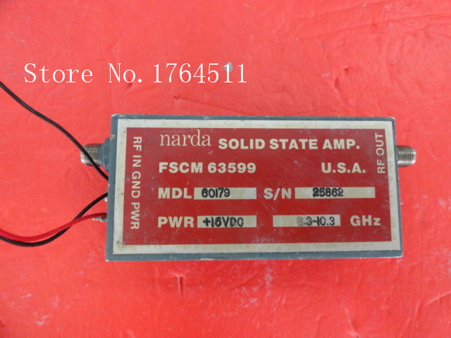 [BELLA] NARDA 60179 8.3-10.3GHz Vin:15V SMA Supply Amplifier