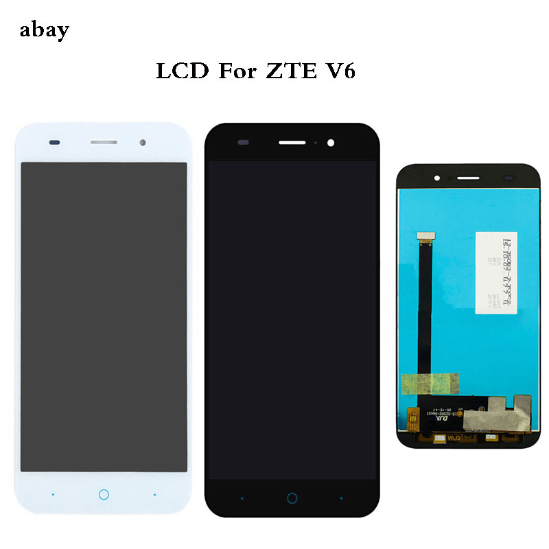 100% Tested 5.0 Inch For <font><b>ZTE</b></font> Blade Z7 X7 V6 D6 <font><b>T660</b></font> T663 LCD Display Touch Screen Digitizer Assembly Black/White image