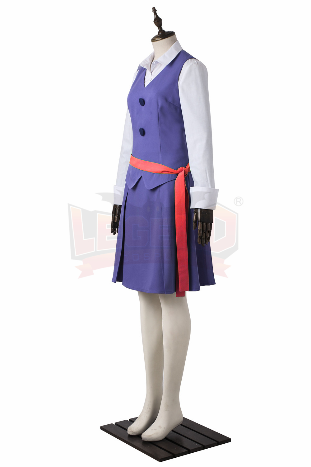 Little Witch Academia Akko Kagari Dress Outfit Halloween cosplay halloween women costume with red belt
