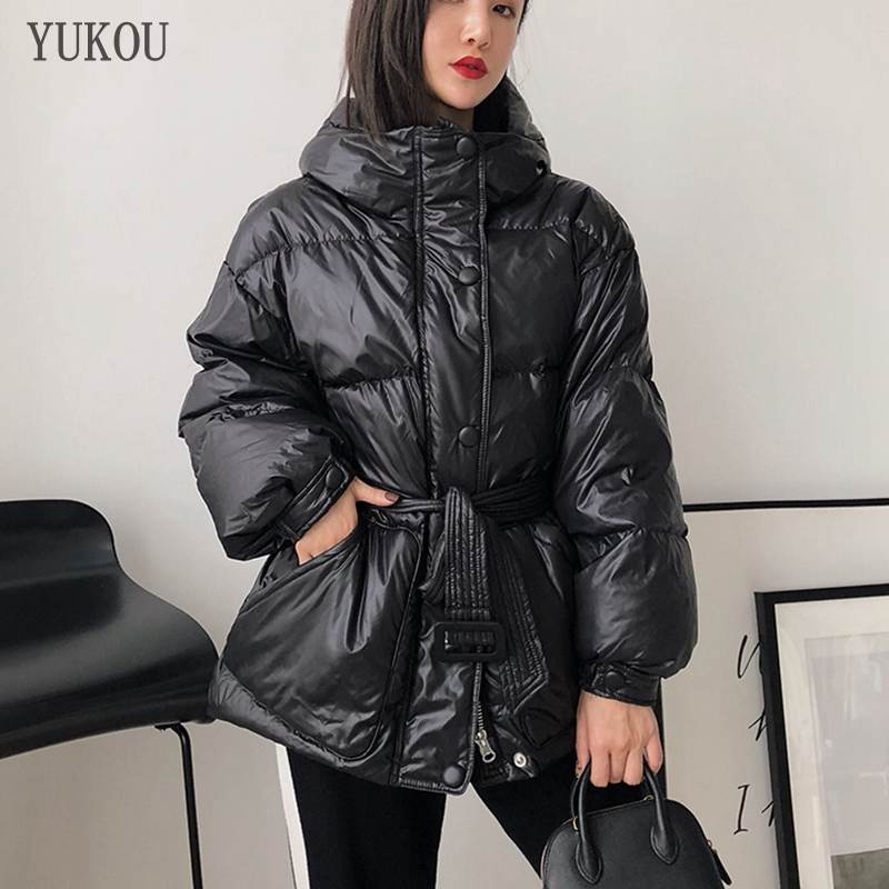 Hot Sellers Women Duck   Down     Coats   2019 Fashion Female High Quality White Duck   Down   Jacket Loose Version Windproof Parka Warm