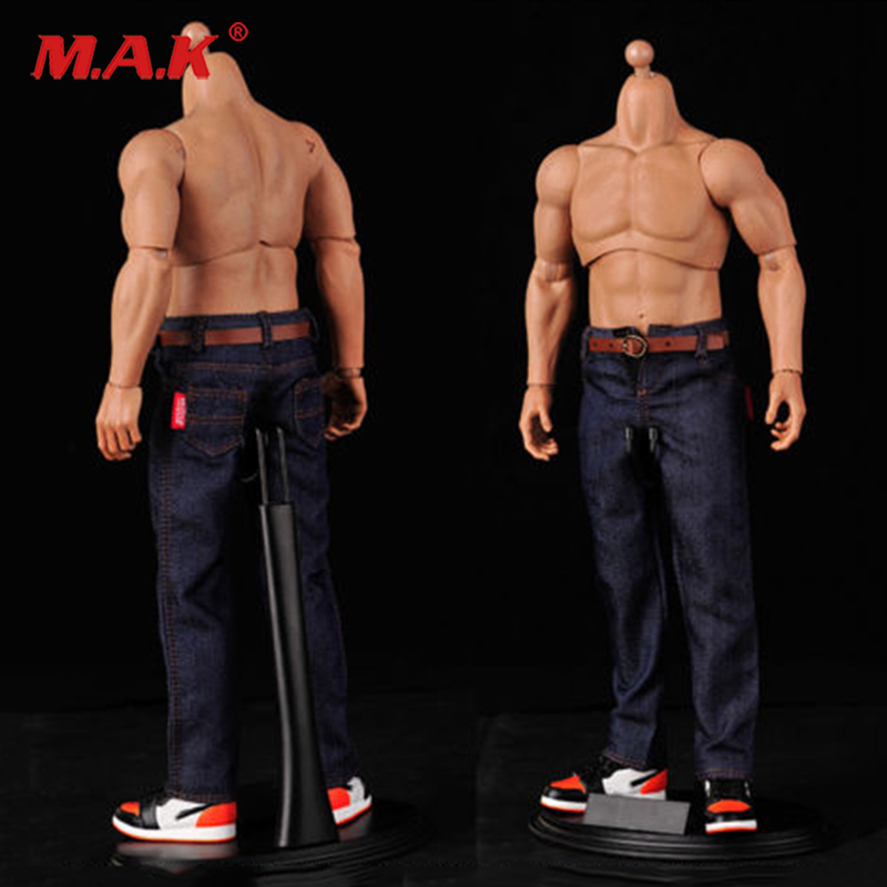 1/6 male man classic Denim man jeans pants for 12'' muscular mens boys body figure accessories
