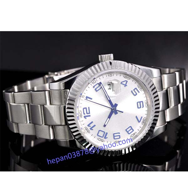 Parnis watch 40mm White dial blue mark Luminous Automatic Self-Wind movement Men's watch P27 relogio masculino 40mm parnis white dial vintage automatic movement mens watch p25