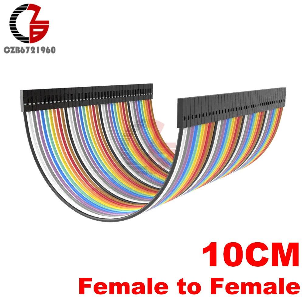 40 Pin Dupont кабель 10 см 20 см 30 см мужчин и женщин Dupont линия макет Jmper разъем провода для Arduino DIY - Цвет: 10CM Female-Female