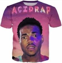 Casual Hip Hop Womens/Mens t shirt Chance The Acid Rapper Short Sleeve Funny 3D Print T-Shirt Summer Tops Tees Plus S-5XL R1039