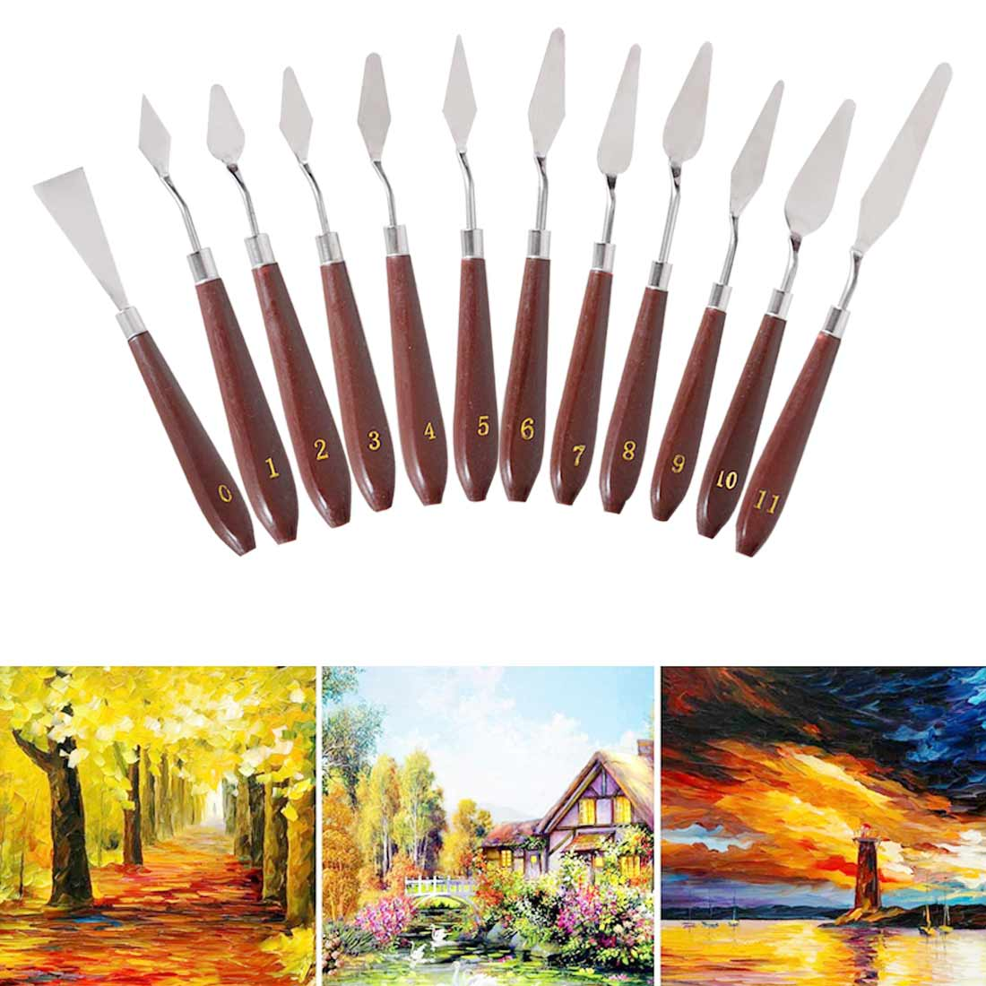 Palette Draw Spatula Drawer Watercolor Knife Pigment Student Oil Mix Scrape Scraper Texture Painter Paint Tool Artist Art