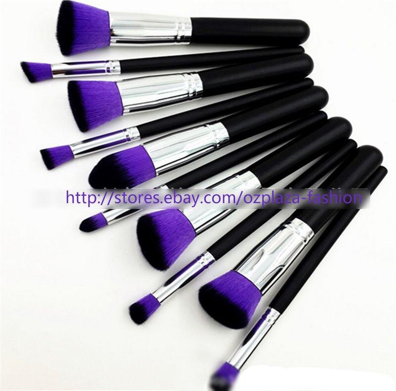 10pc Makeup Brushes Set Cosmetic Foundation Blending Blush Brush Kabuki Kit PO