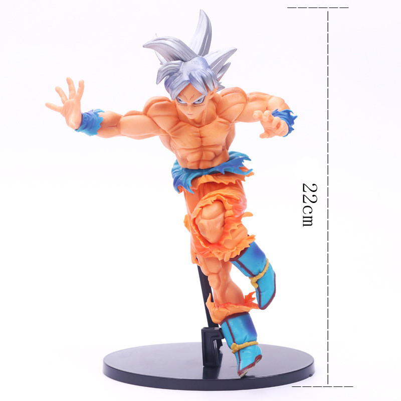 1pc/lot Dragon Ball Action Figure Goku Jumping Style Blue Hair PVC 18cm Gifts For Children Collection Model Toys MSP Goku