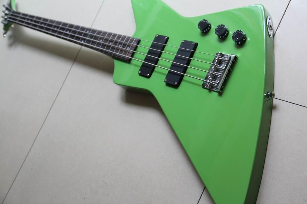 wholesale new custom explorer 4 string electric bass guitar guitarra in green130128 in guitar. Black Bedroom Furniture Sets. Home Design Ideas