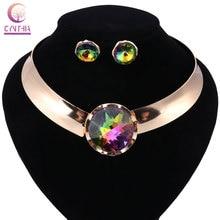 2018 New African Beads Jewelry Set Necklace Earrings Dubai Fashion Jewelry Sets Luxury Wedding Women Costume Jewelry Set
