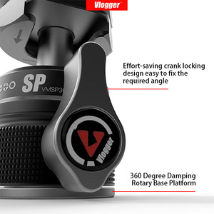 Image 2 - Vlogger モニターブラケットスタンド 360 ° 減衰サポート 90 ° 垂直モニターマウントホルダー 1/4 用ビデオライトマイクデジタル一眼レフ