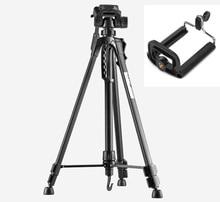 Fotoğraf tripod standı Kamera Kamera için WF 3520 Siyah tripod işkembe extensor para foto kolu kafa Çantası telefon tutucu