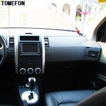 TOMEFON 3 шт. для Nissan X-Trail T31 2008 до 2013 ABS хромированная противотуманная фара управление переключатель крышка приборной панели кондиционер вентиляционное отверстие