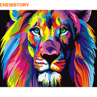 Frameless Colorful Lion Animals Abstract Painting Diy Digital Paintng By Numbers Modern Wall Art Picture For