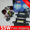 1 set Car healight bombillas h7 xenon single beam 55w xenon hid kit 4300K,5000K,6000K,8000K,10000K,12000K driving lights