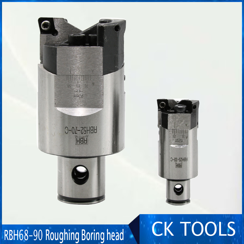 High precision RBH68 92mm Twin bit Rough Boring Head used for deep holes accuracy 0 02mm