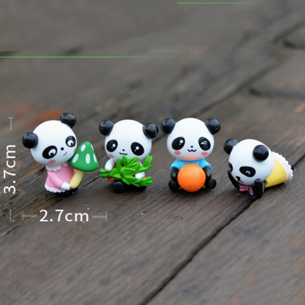 4 Pcs/lot Furnishing Articles Accessories Cartoon Panda Doll PVC Crafts Garden  Ornament Micro Landscape Decoration Wholesale In Figurines U0026 Miniatures  From ...