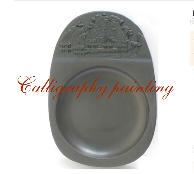 5 Inches Chinese Zhaoqing Duan Yan Ink Stone Carved landscape Inkstone Calligraphy Painting Tool 14641 chinese zhaoqing song keng inkstone horse pattern inkstone calligraphy painting tool 12838